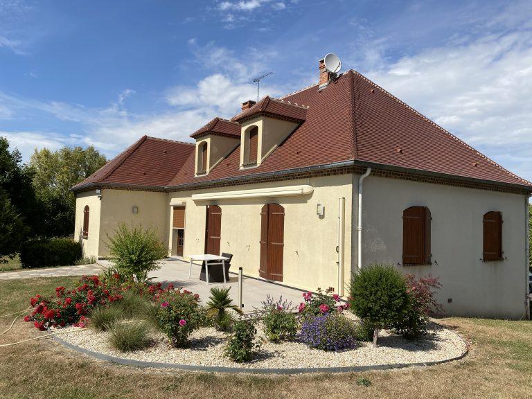 Ravalement de façade, démoussage toiture, Lorentz, Sézanne, Marne, 51